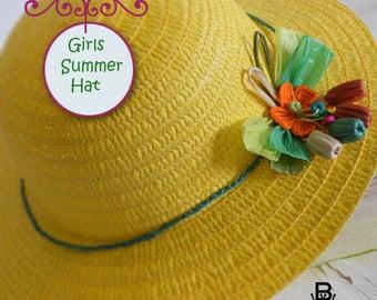 Girls hat, summer hat Straw hat
