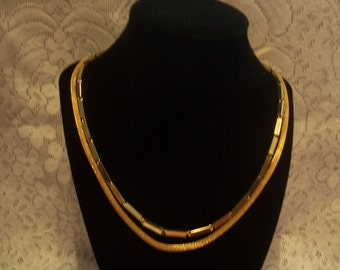 """Two 24"""" Gold Tone Necklaces"""