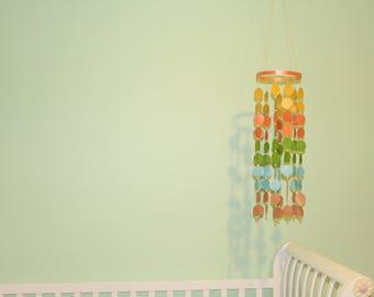 Vintage Crib Mobile - Crib Mobile - Baby Mobile - Circle Mobile - Custom Mobile - Paper Mobile - Nursery Mobile - Floating Mobile