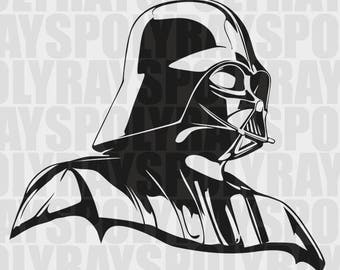 Darth Vader SVG, Star Wars Stencil, Instant Download, EPS, PNG, pdf, Vector File, Darth Vader Stencil, Star Wars svg, Vader Portrait