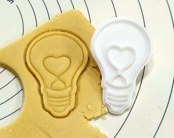 Heart Bulb Cookie Cutter and Stamp