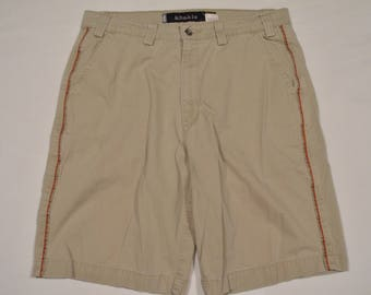 Vintage 1990s Silvertab by Levi's Size 36 Khaki Baggy / Loose Fit Casual Shorts