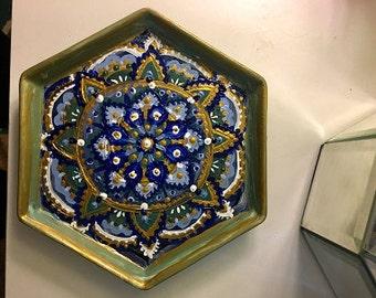 mandala jewelry tray