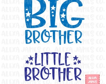 Big Brother Little Brother SVG, New Brother svg,  SVG Cut File, Brothers svg, Big Little svg, Siblings SVG, Cricut, Silhouette, svg png pdf