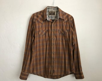 Vintage Style Western Button Up