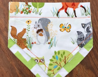 Woodland Creatures Dog Bandana