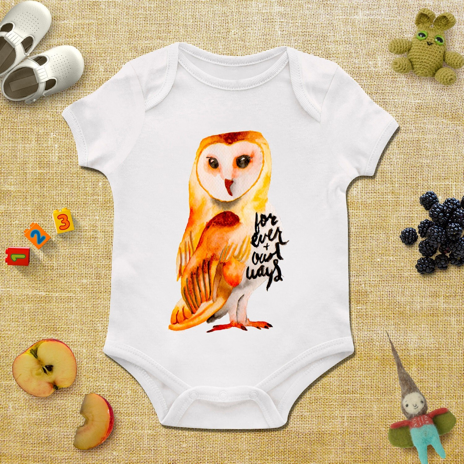 Owl baby boy clothing Funny Owl baby bodysuit Owl Hipster baby