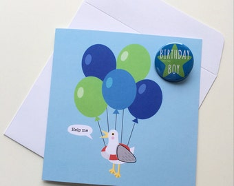 Seagull Birthday Card