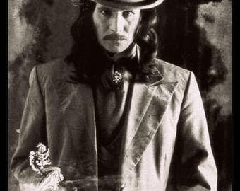 DRACULA GOTHIC PHOTO Black and White Distressed Gothic Vampire Decor Photo Giclee Print Gary Oldman Bram Stoker's Dracula
