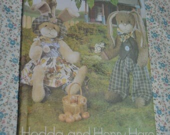 Butterick 6046 Bunnies Sewing Pattern - UNCUT - Hedda and Henry 22 Inch bunnies not including ears