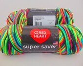 Blacklight -  Red Heart Super Saver variegated yarn worsted weight - 3049