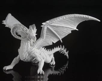 "3D Printed Dragon Model by imlab! Exceptionally detailed print. Massive 7"" wingspan! Price based on level of detail."
