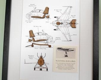 P 51 mustang blueprint wood cut p51 blueprint wall art p51 aircraft blueprint art mcdonnel xf 85 goblin aviation art blueprint decor malvernweather Gallery