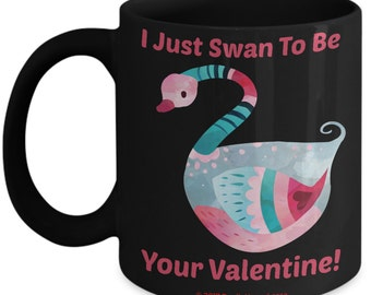 Valentine Mug For Kids - Swan Valentine