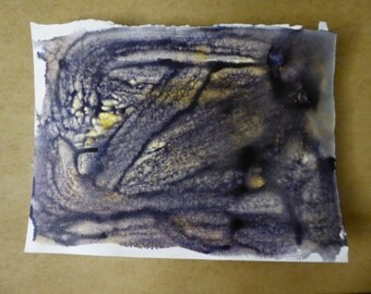 Ink Abstract painting, purple, original art,