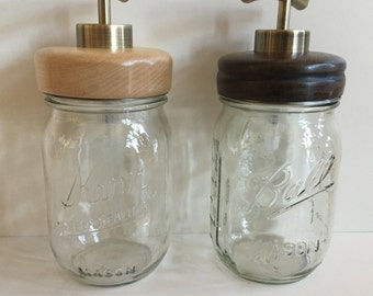 Antique Brass Mason Jar Lid/Dispenser