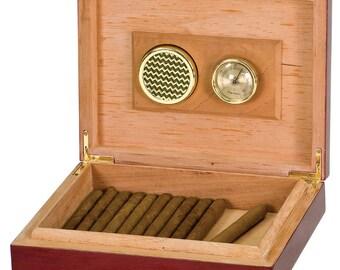 Cigar box humidor,  Rosewood Piano Finish Humidor,