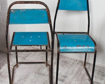 Vintage 1960s Metal Industrial Chairs