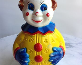 Vintage baby Rolly Rattle Clown