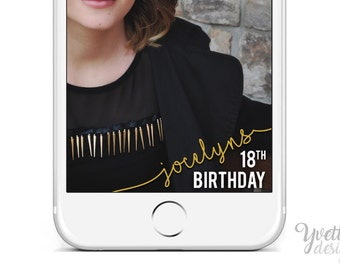 Birthday Geofilter | Customize Name & Age