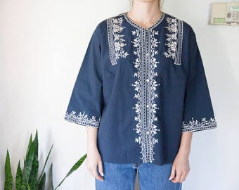 Vintage Embroidered Blouse