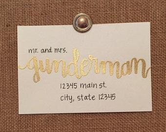 Handwritten Embossed Address