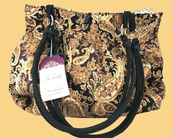 Brown Paisley Purse
