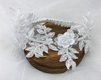 Ocean's Pearls, Wedding Garter, Custom Garter, Bridal Garter, Satin Garter, Toss Garter, Garter Belt, Bridal Shower Gift, Bride Gift, Pearls