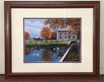Mascot Mill, PA Oil Painting Print