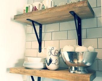 Modern Rustic Driftwood Kitchen Shelves -4 standard lengths & CUSTOM LENGTHS AVAILABLE