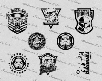 Digital SVG PNG  stormtrooper, star wars inspired, empire, clipart, vector, silhouette, instant download