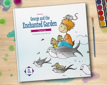Personalised book: 'The Enchanted Garden'. Birthday Gift for Kids . Christmas, Children's Day, Easter, Father's Day, Mother's Day.