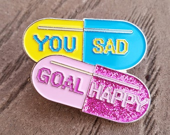 Chill Pill Medicine Lifestyle Enamel Pin