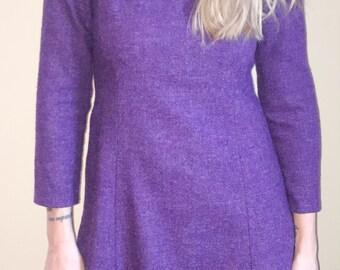 Vintage 50s Jackie O Wool Dress