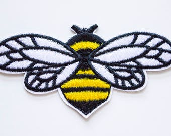 Buzzing Bee Embroidered Patch // Amazing Quality // Iron On Patch // Vegan Honey Patch // Cute Patch // Animal Patch