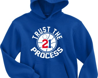 "Royal Joel Embiid Philly ""Trust the Process"" HOODED SWEATSHIRT"