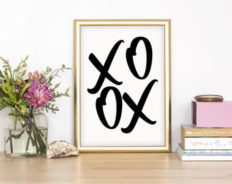 XOXO Wall Print - Wall Art, Home Decor, Bedroom Print, Sleep Print