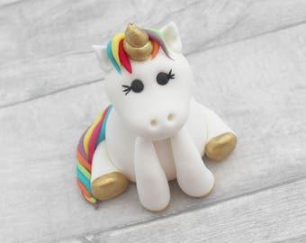 unicorn cake topper, sugar unicorn model, sugarpaste model, birthday cake topper, unicorn cake model, fondant sugar cake decoration, rainbow
