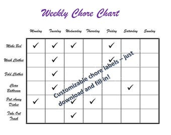 Weekly Chore Chart