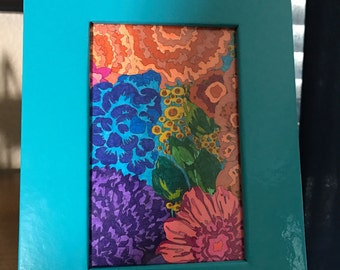 Floral - Framed Colored Page