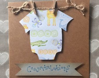 Handmade Congratulations Card for New Baby