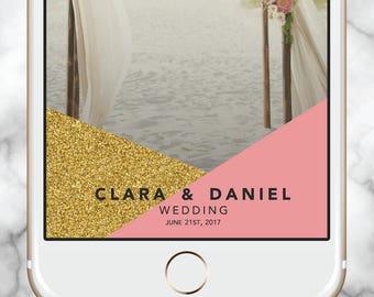 Wedding Snapchat, Gold Snapchat Filter Wedding, Glitter Geofilter, Snapchat Geofilter Baby Shower, Geofilter Bachelorette, Gold Geofilter