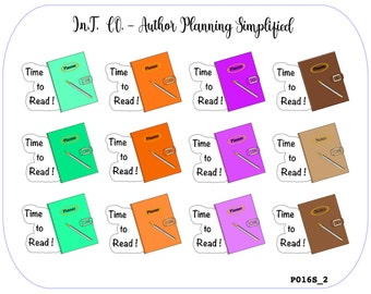 """Author Planner Stickers - """"Time to Read!"""""""