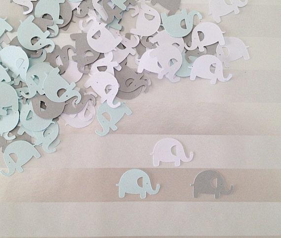 Baby Blue Bathroom Set: Elephant Baby Shower Decoration