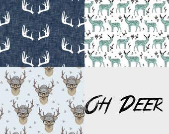Oh Deer Boys Bibdana Three Pack Set or Pick