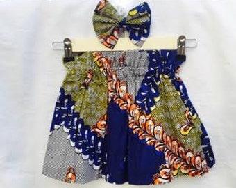African Clothing, Ankara Toddler Skirt, Toddler Skirt, Girl Skirt, Gift Set