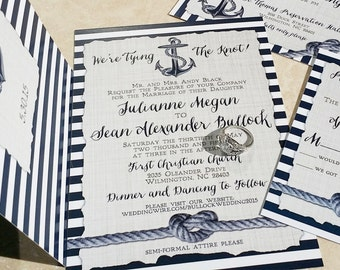 nautical wedding invitation | etsy, Wedding invitations