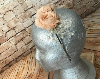 Flower girl head band. Handmade in any color.