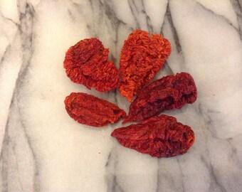 Organic dried red Bhutlah chilli, chile