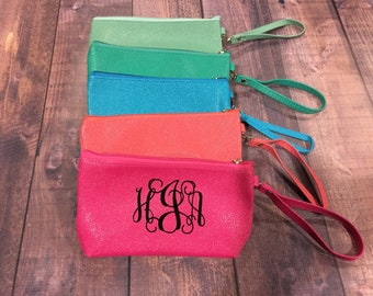 Personalized Monogram Wristlet, Personalized Wristlet, Personalized essential oil bag, Planner Sticker Holder, Adult Coloring